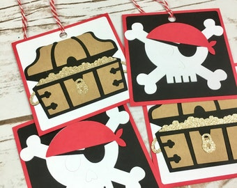 Pirate Party Tags, Pirate Party Favor Tags, Pirate Party, Under the Sea, Birthday Party, Baby Shower