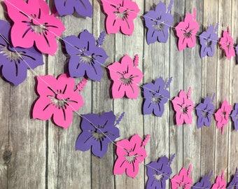 Hibiscus Garland, Flower Garland, Hawaiian Party, Luau Garland, Summer Party, Photo Prop