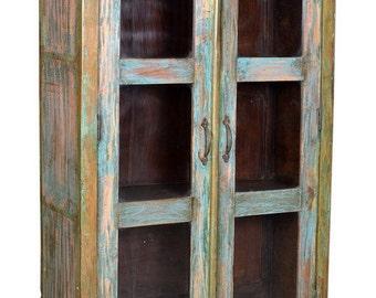 Vintage glazed Indian Cupboard