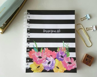 12 Month Weekly Planner * Personalized Planner * Choose Start Month * Student Planner * Professional Planner * Watercolor Floral