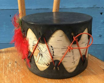 Vintage 1950s Toy Drum