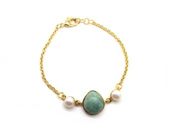 Gaea Bracelet - Gold - Jade