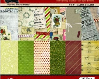 7gypsies | Santa's Journey | 6 x 6 | 2 Sided Variety Pack | 48 Sheets