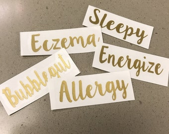 Essential Oil Rollerball Labels **Labels Only**