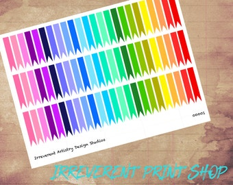 Rainbow Blank Page Flag Stickers