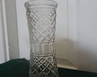 Barnook Pressed Glass Celery Vase/Vintage/1930s