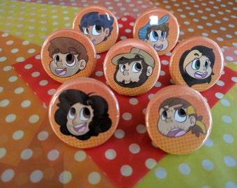 Game Grumps Pins! Set of 7