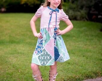Girls Lily Top and Dress PDF pattern, Girls Dress Pattern, Summer dress pattern, Knit dress Pattern PDF, Tween girl, sizes 2t-12