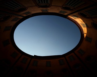 Hole in the sky - Art photo - Photography - Sky blue - Houses - Photo art - artistic - Hole - Ferrara - handmade - Italy