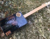 Electric/Acoustic Cigar Box Guitar - Great Camacho gorgeous Box - Oak fretboard - Awesome Sound! Great gift for a guitarist!