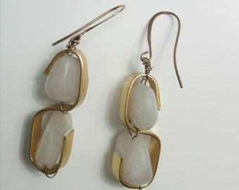 Tape earrings with Rhinestones