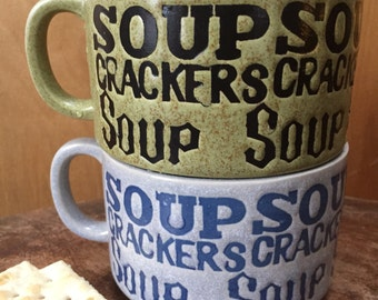 The perfect pair of vintage soup cups