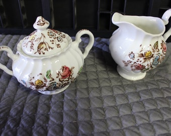 Johnson Brothers Staffordshire Bouquet Sugar and Creamer