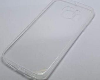 Blank Samsung S6 Edge Case with DustPlug for DIY project in Transparent. Plain Mobile Phone Case for Decoration.