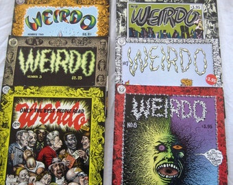 Weirdo Underground Comics,#1 - #8, You choose, #1 is First Printing, Adult content, Over age 18, Vintage 1980's, Robert Crumb