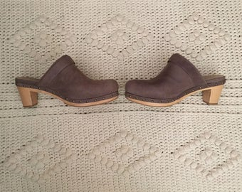 Vintage J.Jill Light Lavender Wooden Clogs Women's Size 7.5