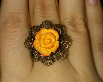 Flower lace ring