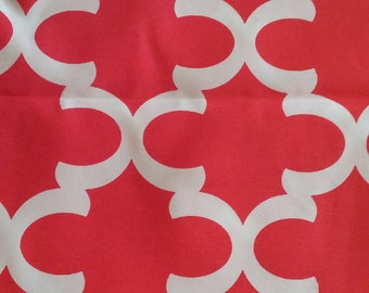 Home decor fabric, red and white, outdoor fabric, Premier Prints - Fynn Rojo, red fabric, fabric remnant, remnant