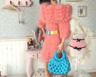Pink Angora Dress for Poppy Parker