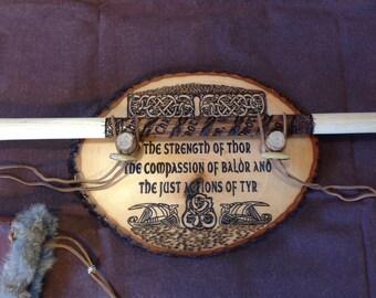 Viking axe display wall mount