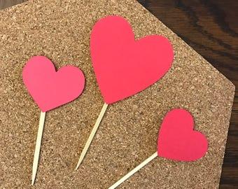 Hearts Cupcake Topper