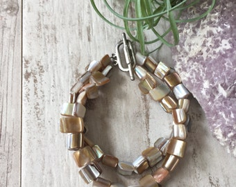 Shell Double Stand Bracelet