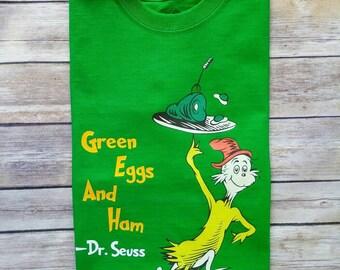 Green Eggs & Ham...Dr. Seuss Day Green shirt