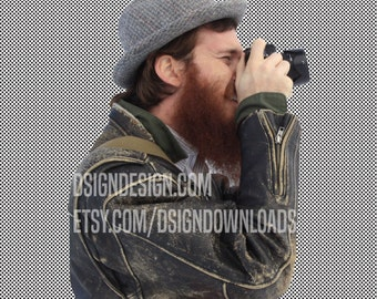 STOCK // Bearded photographer