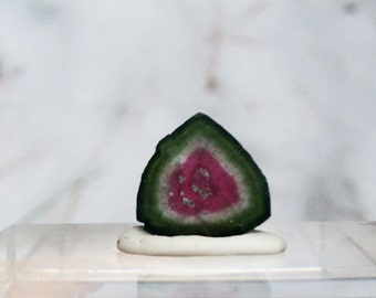 5.75 ct watermelon tourmaline slice from Kunar, Afghanistan A3