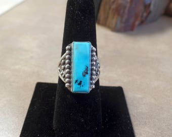 Sleeping Beauty Turquoise Ring. silver Turquoise. Sterling Turquoise. December Birthstone. Blue Turquoise. 1275