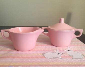 Cute Vintage Cream and Sugar Bowl