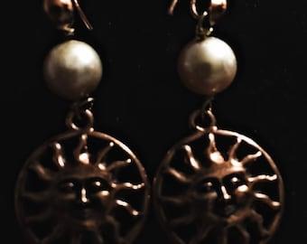 Freshwater Pearl Copper Earrings