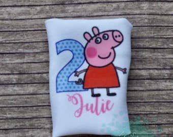 Peppa Pig Birthday Shirt, Girls birthday, personalzied Shirt