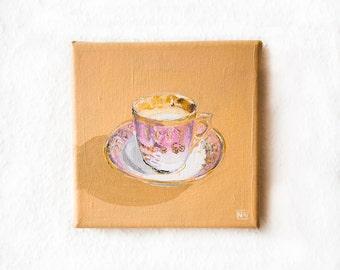 Vintage Tea-Cup Painting