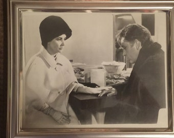 Framed Picture of Richard Burton and Elizabeth  Taylor from the 1960's (Free Shipping)