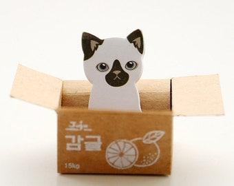 30 sheets Siam Cat Sticky Note / Kitty Sticky Note / Bookmark