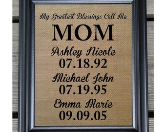 Gift for Mom | Christmas Gift for Mom | Birthday Gift | Mothers Day Gift | My Greatest Blessings | Mom From Daughter | Personalized Gift