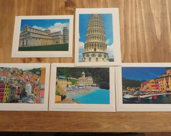 Italy Greeting Cards, Italy Photo Cards, All Occasion Blank Cards, Blank Cards, Assorted Cards,  Note Cards, Set of 5 Cards, Gift