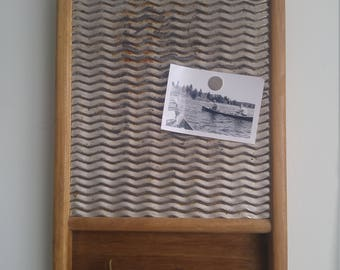 Upcycled Antique Wood & Metal Washboard