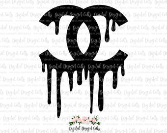Dripping Chanel Logo SVG, DXF, PNG Cutting File