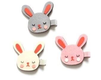 Rabbit Hair Clip, Rabbit Hair Pin, Rabbit, Buuny Hair Pin, Rabbit Accessories, Bunny Hair Clip, Animal Hair Pin