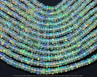 """25% Off AAA+ Natural Ethiopian opal Round Smooth Beads Gemstone 2.5-4mm 16""""Inches Long Strand Beautiful Welo beads Code#OH02"""