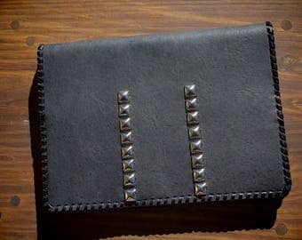 Studded Leather Planner Cover/ Journal Cover