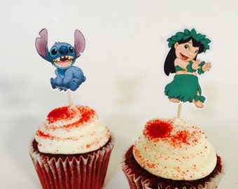 Lilo & Stitch Inspired Cupcake Toppers (12)