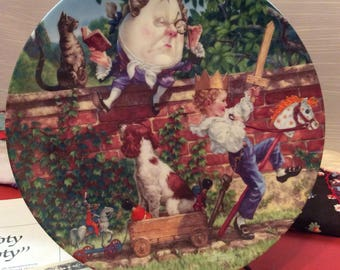 Humpty Dumpty Plate ~ The Bradford Exchange ~ 1992 Knowles ~ Nursery Rhymes