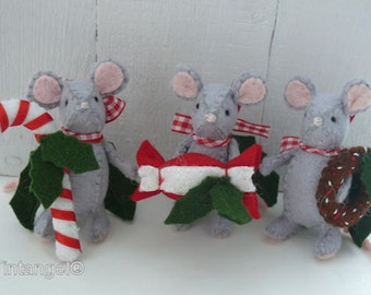 Little Christmas Candy Mice - PDF pattern - download