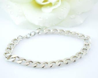 Curb Chain Bracelet Sterling Silver 19.7g