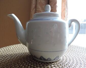 Teapot - Chinese teapot - Vintage - porcelain - rice Grain