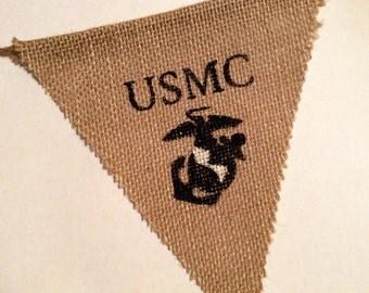 U.S. Marines Burlap Banner