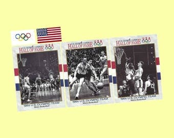 1991 Impel Hall of Fame - 1964 USA Olympic Basketball Team 10 Card Set - Undefeated Gold Medal Winners - Mint